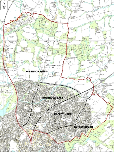 North Horsham Parish Council Ward Map