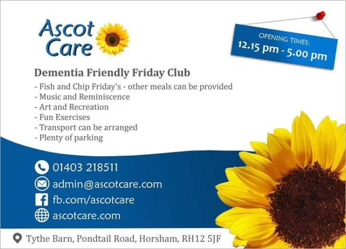 Ascot Care Dementia Friendly Friday Club