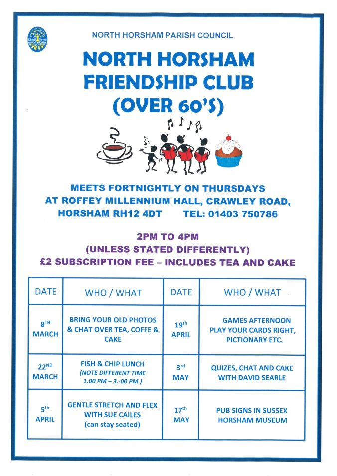 Holbrook Friendship Club Poster 2018