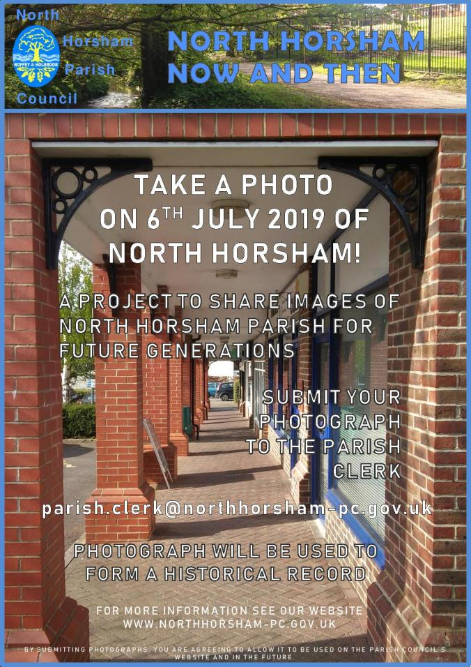 North Horsham Now and Then Poster