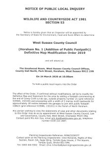 DMMO Coney Croft Public Inquiry 24.03.2020 page 1