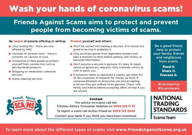 5193 Coronavirus Scam Postcard V3