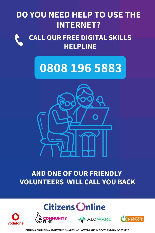 Citiznes Online digital skills helpline - 08081965883